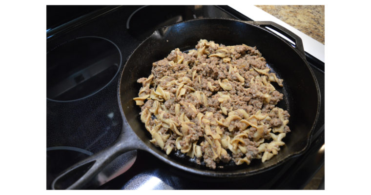 Quick and Easy Ground Beef and Pasta Dish